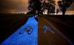 SOLAR-POWERED BIKE PATHS